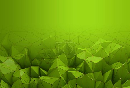abstract creative green polygonal pattern