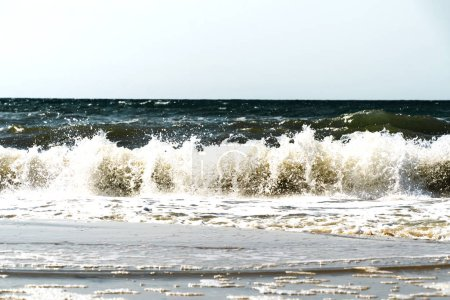 Photo for Ocean and sea storm.Cloudy sky and waves - Royalty Free Image