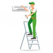 Repairman Vector Design Character