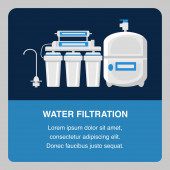 Water Filtration Website Banner Vector Template