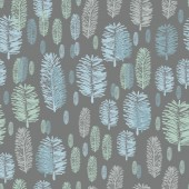 Winter Forest-Virgin Forest illustration seamless Repeat Pattern seamless Repeat Pattern Background in Grey-Green Petrol Blue  Abstract Pattern of Wiled Fern shapes and Shades Festive Pattern Background Surface pattern Design Perfect for Fabric