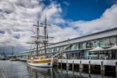 Hobart Tasmania June 15th 2016 :Twin masted sailing ship the Lady Nelson in Hobart, Tasmania, Australia