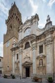 Pitigliano Italy June 30th 2015 : The church of Santi Pietro e Paolo in Pitigliano