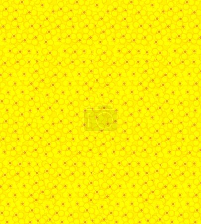 Photo for Cartoon with yellow flowers - template background - illustration for children - Royalty Free Image