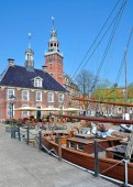 Town Hall and Old Scales in Leer,East Frisia,lower saxony,Germany