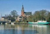 Town of Leer at North Sea in East Frisia,lower saxony,Germany