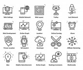 Business and Finance Startup Isolated Line Vector Icons Fully Editable