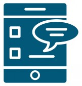 Mobile Chat Vector Icon editable