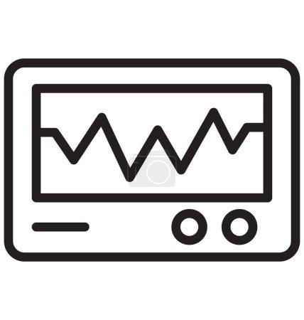 Ecg Monitor Vector Icon...