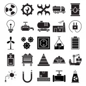 Industrial Isolated Vector Icons that can be easily modified or edit