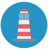 Lighthouse Color Illustration Vector Icon