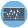 Line Graph Color Isolated Vector Icon that easily ...