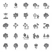 Nature Parks and Trees Isolated Vector Icons Set that can be easily modified and Edit in any Size or Color