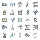 Electronics Equipment Isolated Vector Icons Set that can be easily Edited or Modified