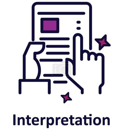 Interpretation Isolated Vector icon that can easily modified or edit.