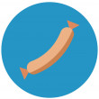 Chorizo, cured sausage Isolated Color Vector Icon ...