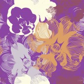 Abstract seamless flower pattern with orchids Can be used as creating fantasy background textile wallpaper wrapping paper fabrics Vector illustration