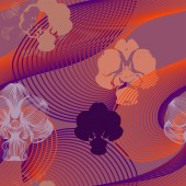 Abstract seamless floral pattern with orchids Can be used as creating fantasy background textile wallpaper wrapping paper fabrics Vector illustration