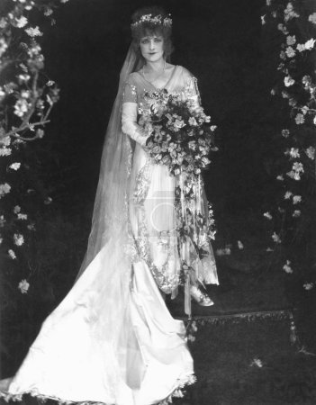 Woman on her wedding day