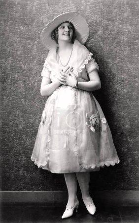 Bride with her hands over her heart