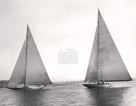 Photo for Two boats sailing on the ocean - Royalty Free Image
