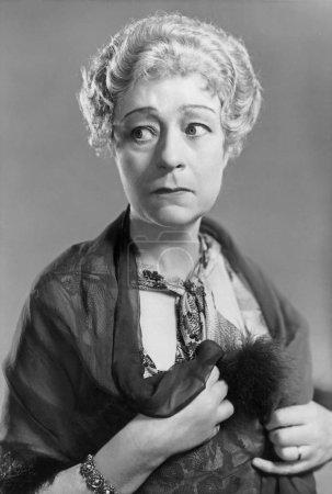 old fashioned woman portrait