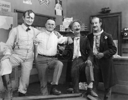 small group of men ,black and white