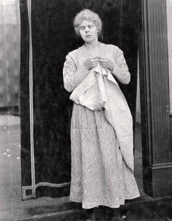 Cross eyed woman,old fashion