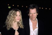 Kyra Sedgwick and Kevin Bacon at opening night party for LIFE X 3, NY 3/31/2003, by CJ Contino