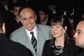 Rudy Giuliani and Judi Nathan at benefit screening of COLLATERAL DAMAGE, NY 2/6/2002, by CJ Contino