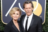 Kyra Sedgwick, Kevin Bacon at arrivals for 75th Annual Golden Globe Awards - Arrivals 2, The Beverly Hilton Hotel, Beverly Hills, CA January 7, 2018. Photo By: Dee Cercone/Everett Collection