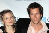 Kyra Sedgwick and Kevin Bacon at Christopher Reeve Paralysis Foundation gala, NY 11/13/2001, by CJ Contino