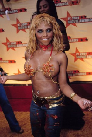 Photo for Lil' Kim at the MTV Movie Awards, 6/5/2001 - Royalty Free Image
