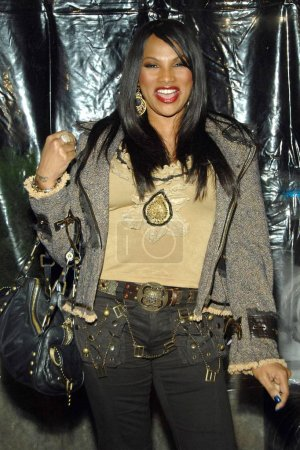 Photo for Sandra Pepa Denton at arrivals for I AM LEGEND Premiere, WAMU Theatre at Madison Square Garden, New York, NY, December 11, 2007. Photo by: George Taylor/Everett Collection - Royalty Free Image