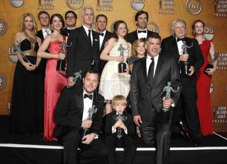 Mad Men cast members January Jones, Aaron Staton, ...