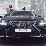 Lexus new car at motor show, Automobile Salon. Lex...