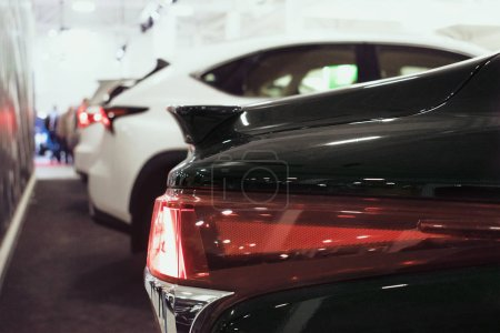 Close up Lexus car detail at motor show, Automobil...