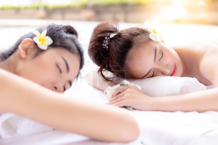 Gorgeous beautiful women gets long weekend holiday in summer season. Charming beautiful girls cone to spa shop for taking a rest at luxury hotel, resort at beautiful place. They feel relaxed, happy