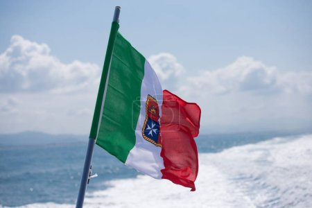 Flag of Italy with the coat of arms