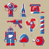 Graphic illustration of Hong Kong nostalgic stuffs
