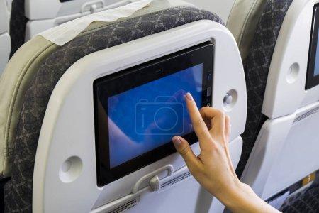 Photo pour Classe affaires en avion sur fond - image libre de droit
