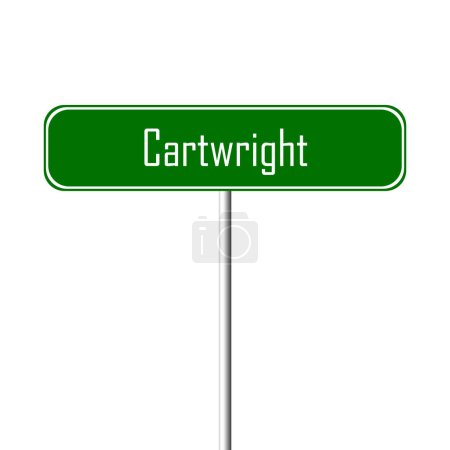 Cartwright Town sign - place-name sign