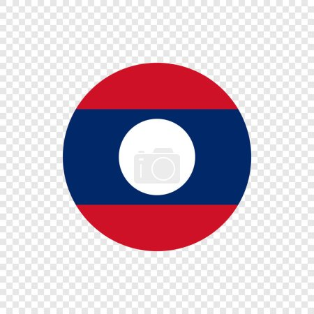Lao Peoples Democratic Republic - Vector Circle Flag