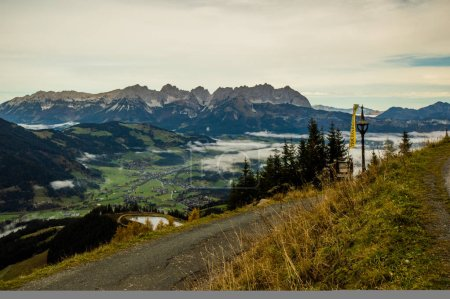 Photo for View of road with rocks and valley on background - Royalty Free Image