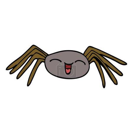 Happy cartoon doodle spider...