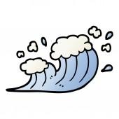 vector gradient illustration cartoon wave crashing
