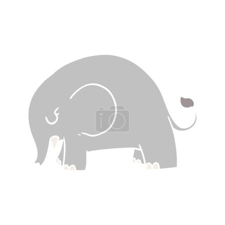 Cute flat color style cartoon elephant...