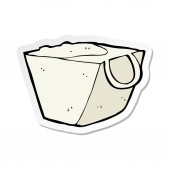 sticker of a cartoon noodle box