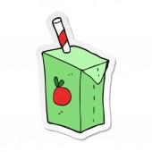 sticker of a cartoon juice box