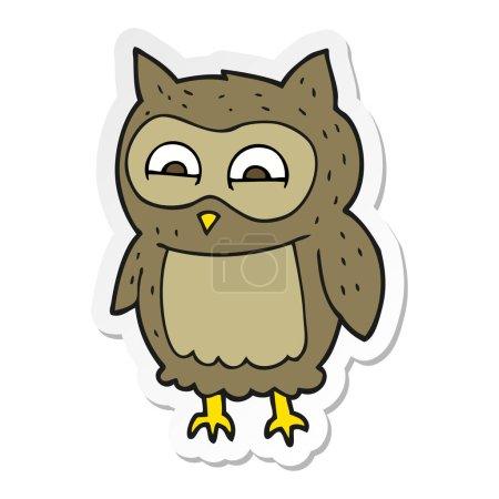 Sticker of a cartoon owl...